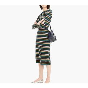 NEW J. Crew Long-sleeve striped dress